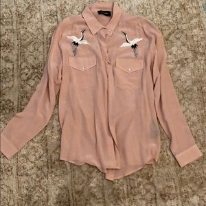The kooples 100% silk shirt broderie